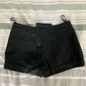 French Connection Shorts - French Connection Faux Leather Shorts